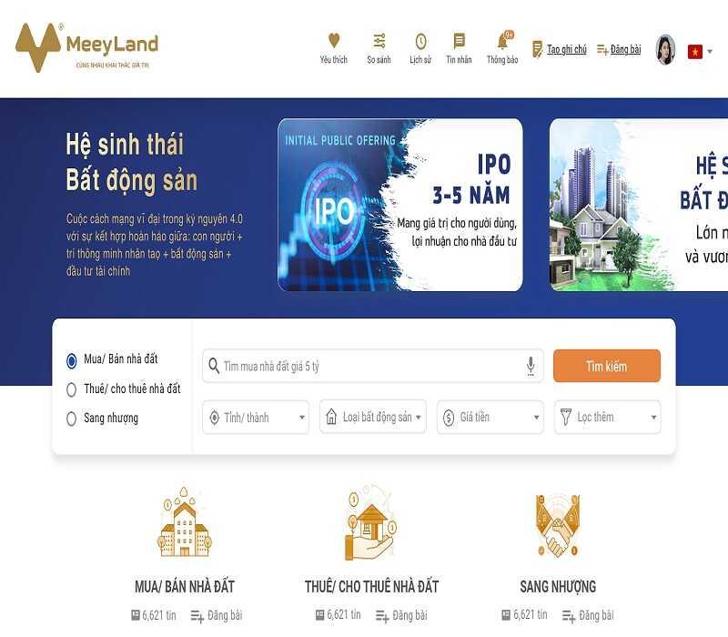 CÔNG TY CỔ PHẦN TẬP ĐOÀN MEEY LAND - MeeyLand.com